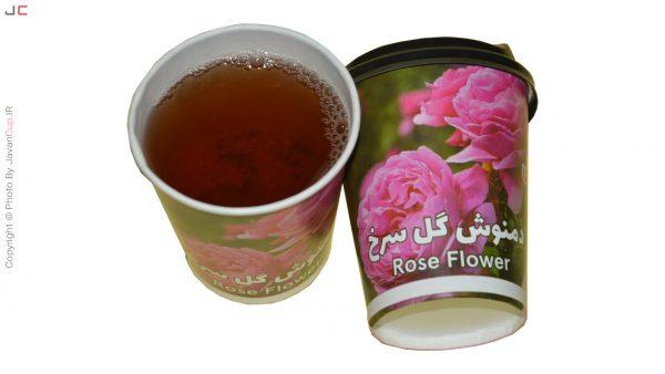 دمنوش لیوانی گل سرخ با درب تست شده