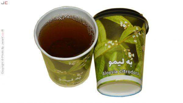 چای لیوانی به لیمو با درب تست شده