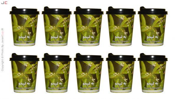 چای لیوانی به لیمو با درب ده تایی