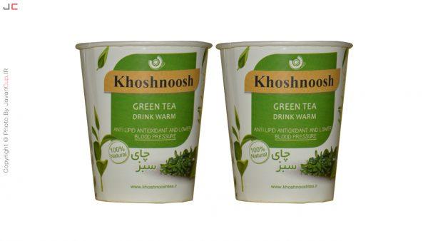 چای سبز لیوانی دوتایی