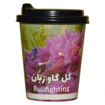 چای لیوانی گل گاو زبان با درب