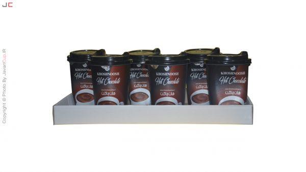 هات چاکلت لیوانی 6 تایی با سینی ایستاده