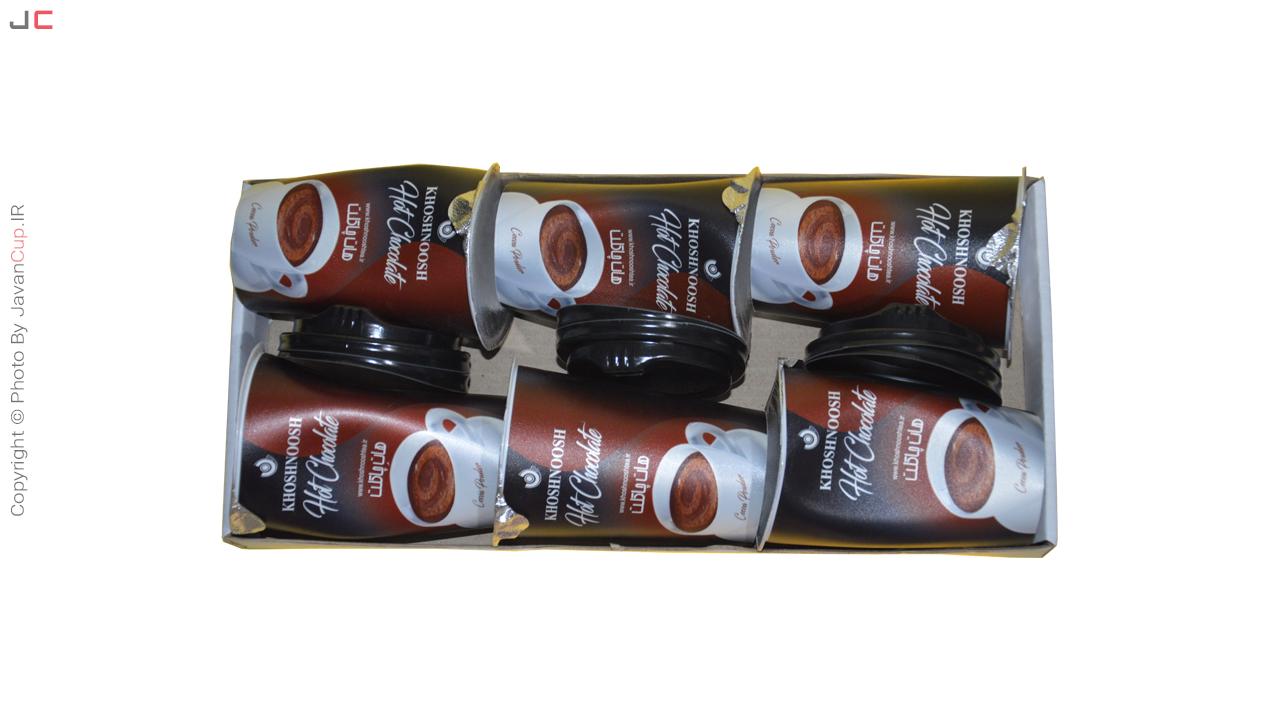 هات چاکلت لیوانی 6 تایی با سینی خوابیده