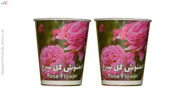 دمنوش لیوانی گل سرخ دوتایی