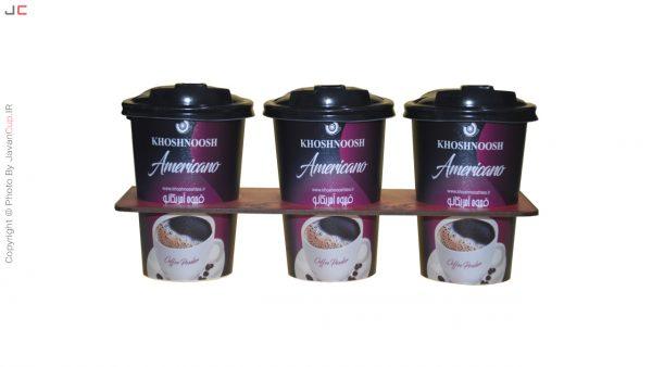 قهوه امریکانو لیوانی 3 تایی با سینی