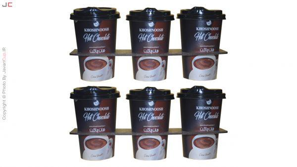 هات چاکلت لیوانی 6 تایی با سینی
