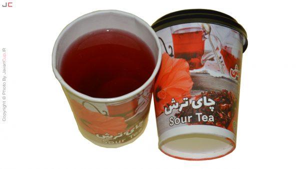 چای ترش لیوانی با درب تست شده