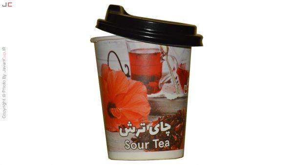 چای ترش لیوانی با درب نصفه