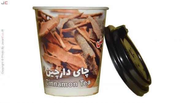 چای دارچین لیوانی با درب بغل