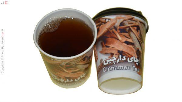 چای دارچین لیوانی با درب تست شده
