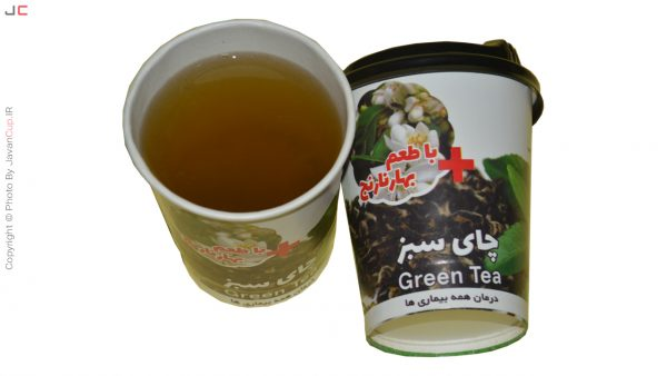 چای لیوانی سبز با طعم بهار نارنج درب تست شده