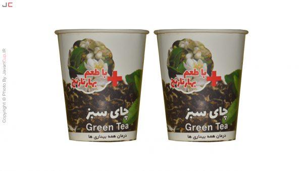 چای لیوانی سبز با طعم بهار نارنج دوتایی