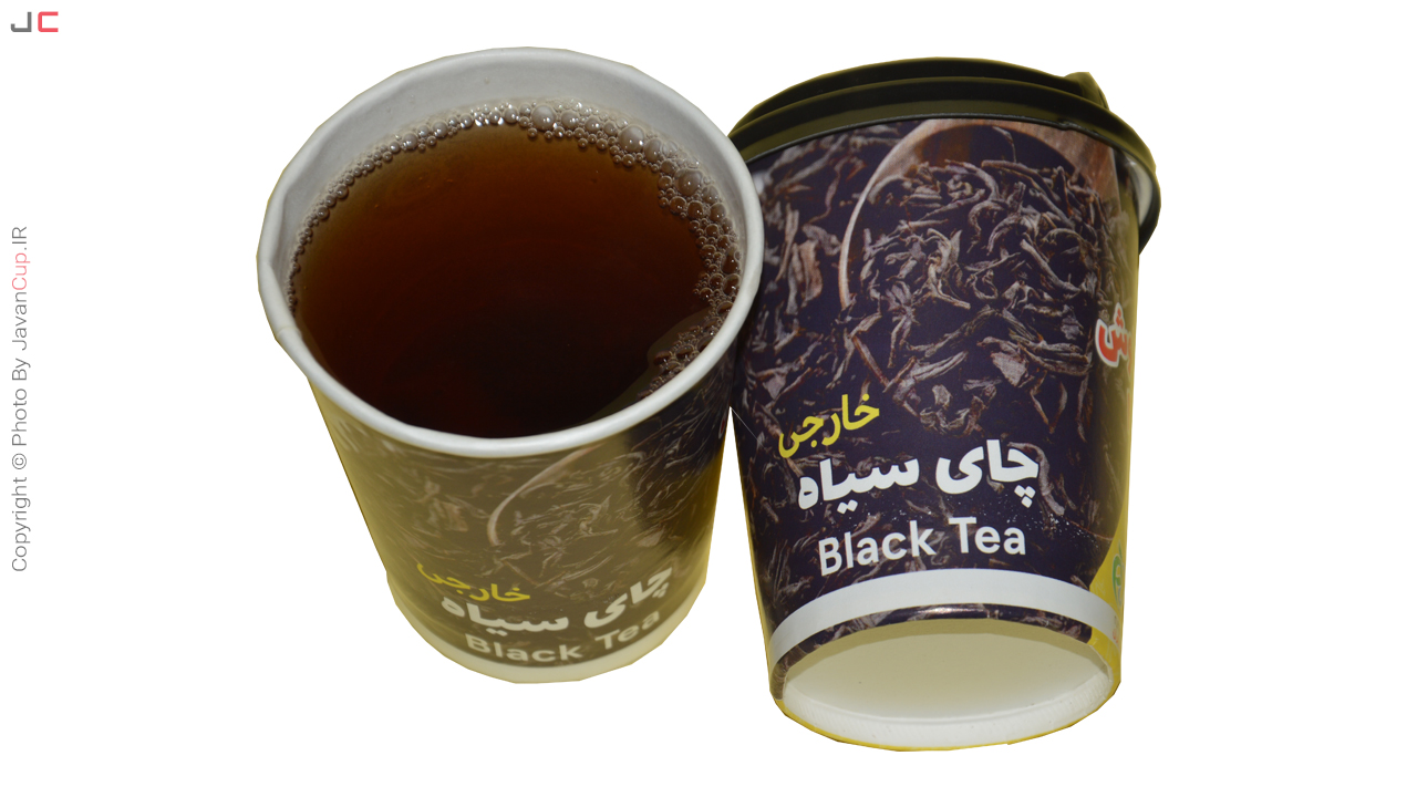 چای سیاه خارجی با درب تست شده لیوانی