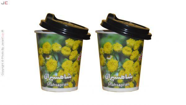 چای لیوانی شاهسپران با درب نصفه دوتایی
