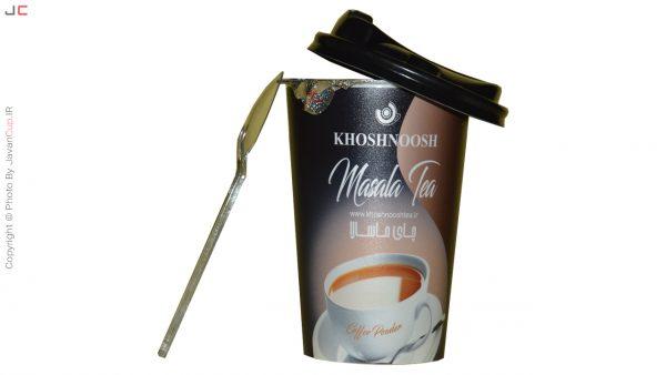 چای لیوانی ماسالا تک نفره درب نصفه با قاشق