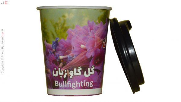 چای لیوانی گل گاو زبان با درب بقل