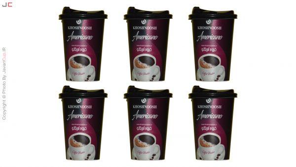 قهوه امریکانو لیوانی 6 تایی لاکچری
